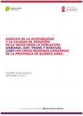 Informe sobre Salud LGBT en la Provincia de Buenos Aires