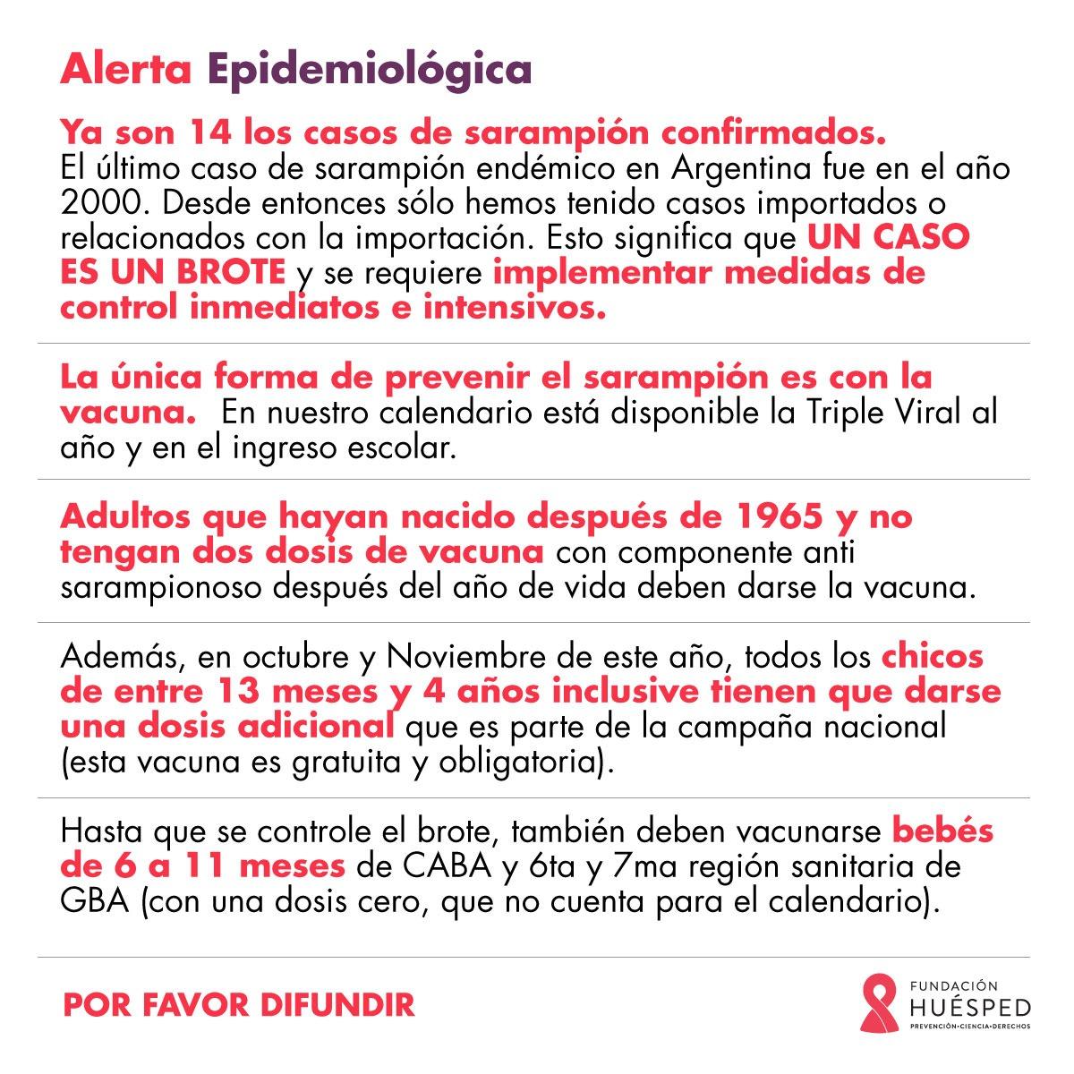 Alerta epidemiológica Sarampión