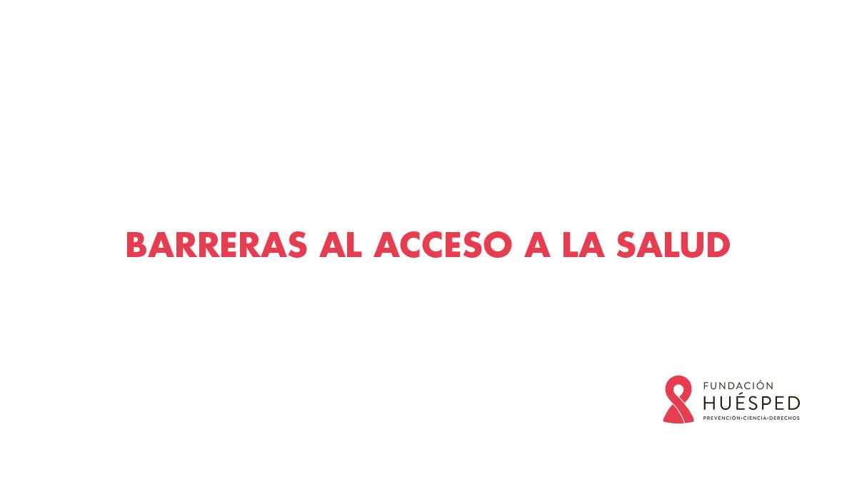 Curso Trans Barreras al acceso a la salud