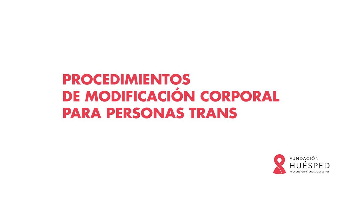 Curso Trans Procedimientos de modificación corporal para personas trans
