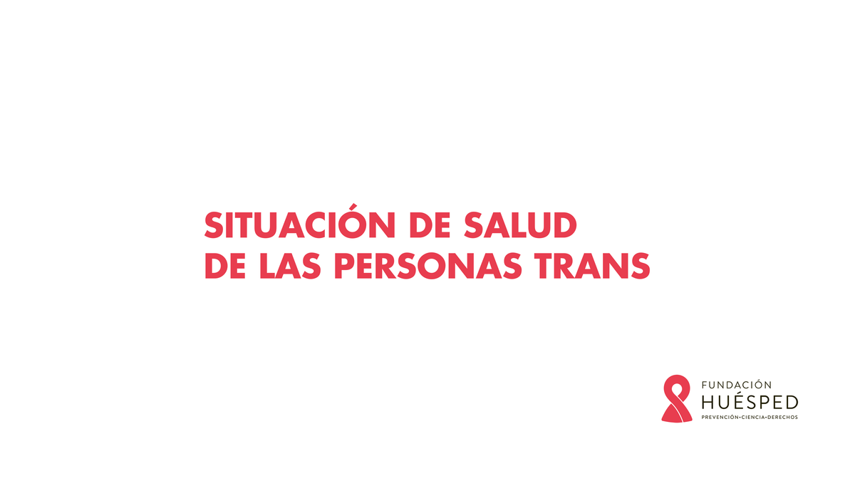Curso Trans Situación de salud de las personas trans